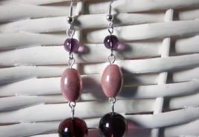 Boucles d'oreille roses - bijoux