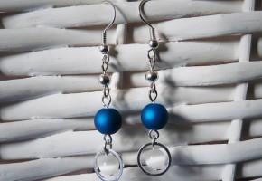 Boucles d'oreille bleues - bijoux