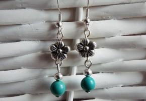 Boucles d'oreille turquoises - bijoux