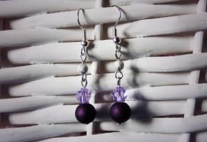 Boucles d'oreille violettes - bijoux