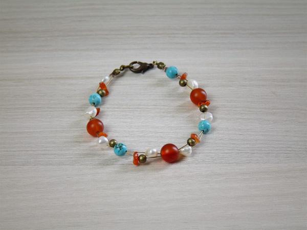 bracelet-cornaline-turquoise