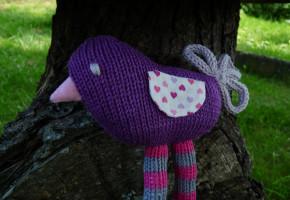 tricoter un oiseau