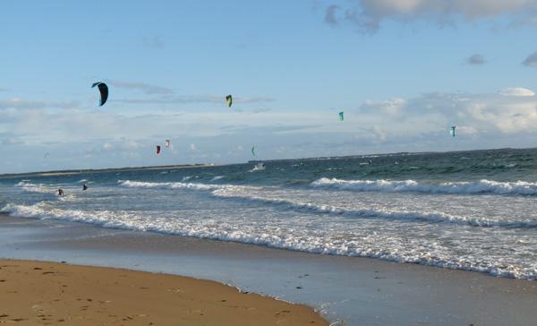 La mer et le kitesurf