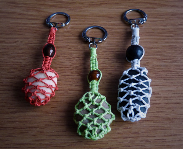 Portes-clés dans différentes couleurs