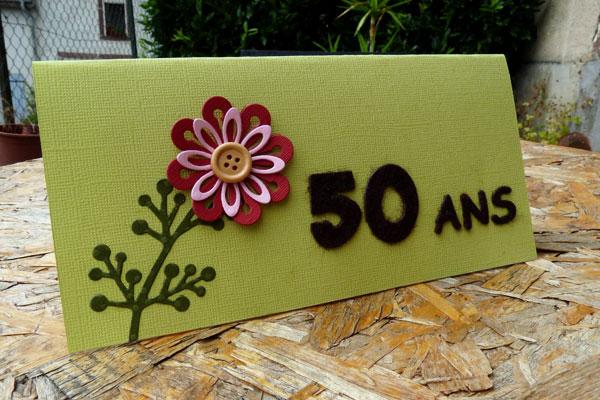 carte d'anniversaire - 50 ans