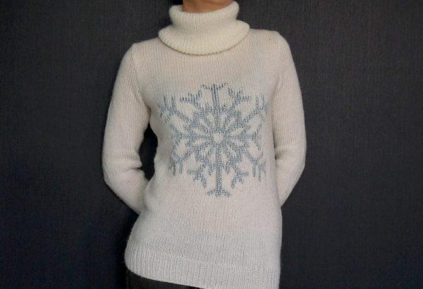 Le pull flocon de neige