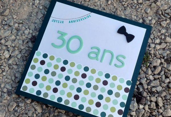 Carte d'anniversaire – 30 ans