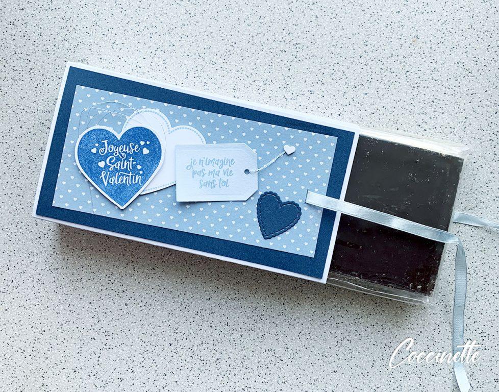 Boîte de chocolat déballée