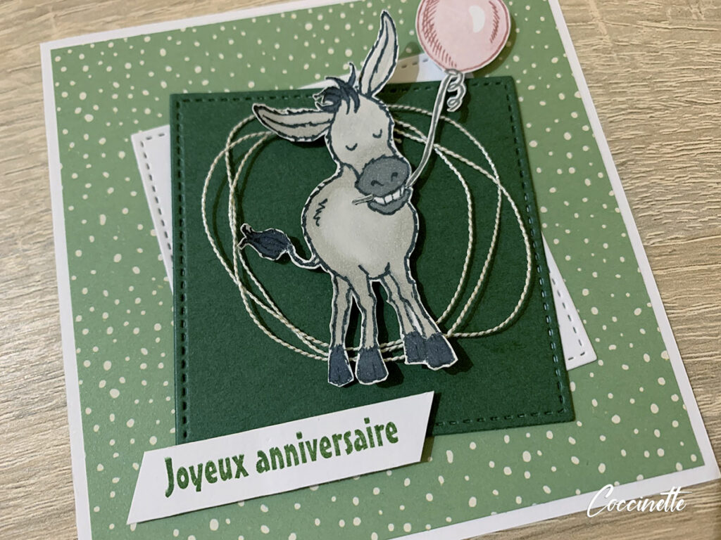 Carte d'anniversaire gentils bourriquets