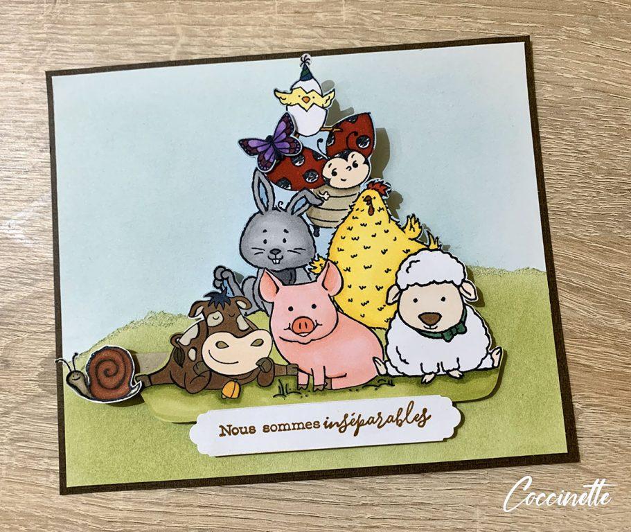 Les animaux de la ferme Stampin'up