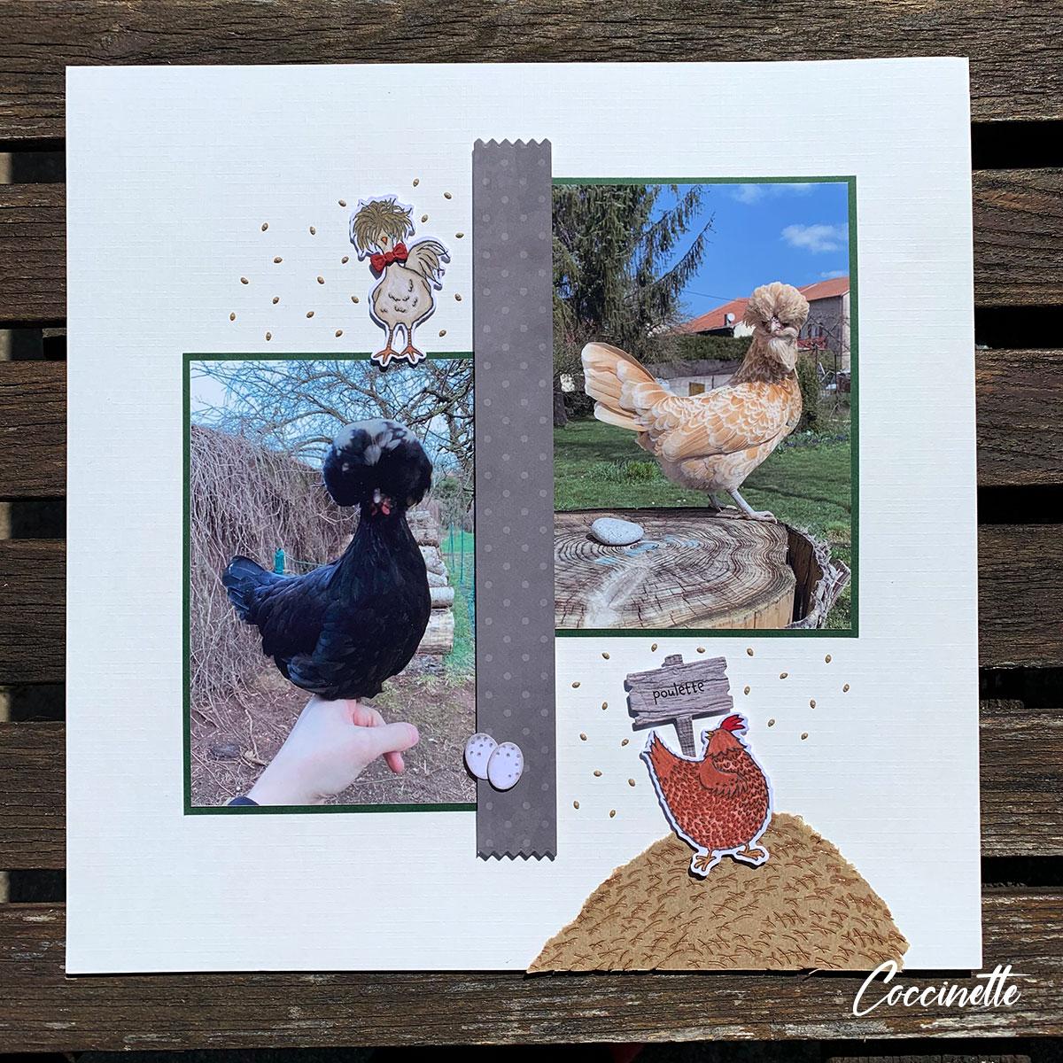Page de scrap : Les poulettes prennent la pose