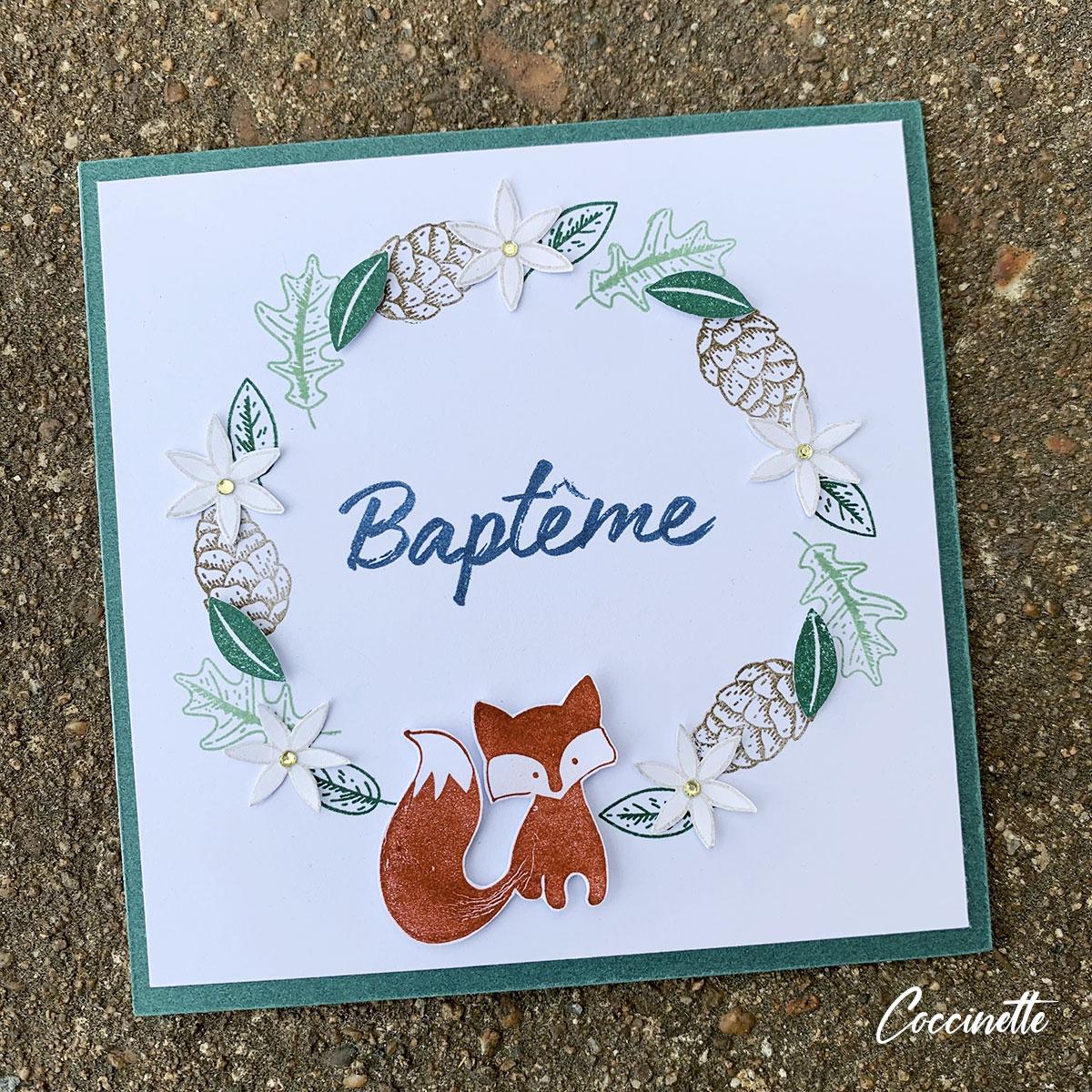 carte de baptême