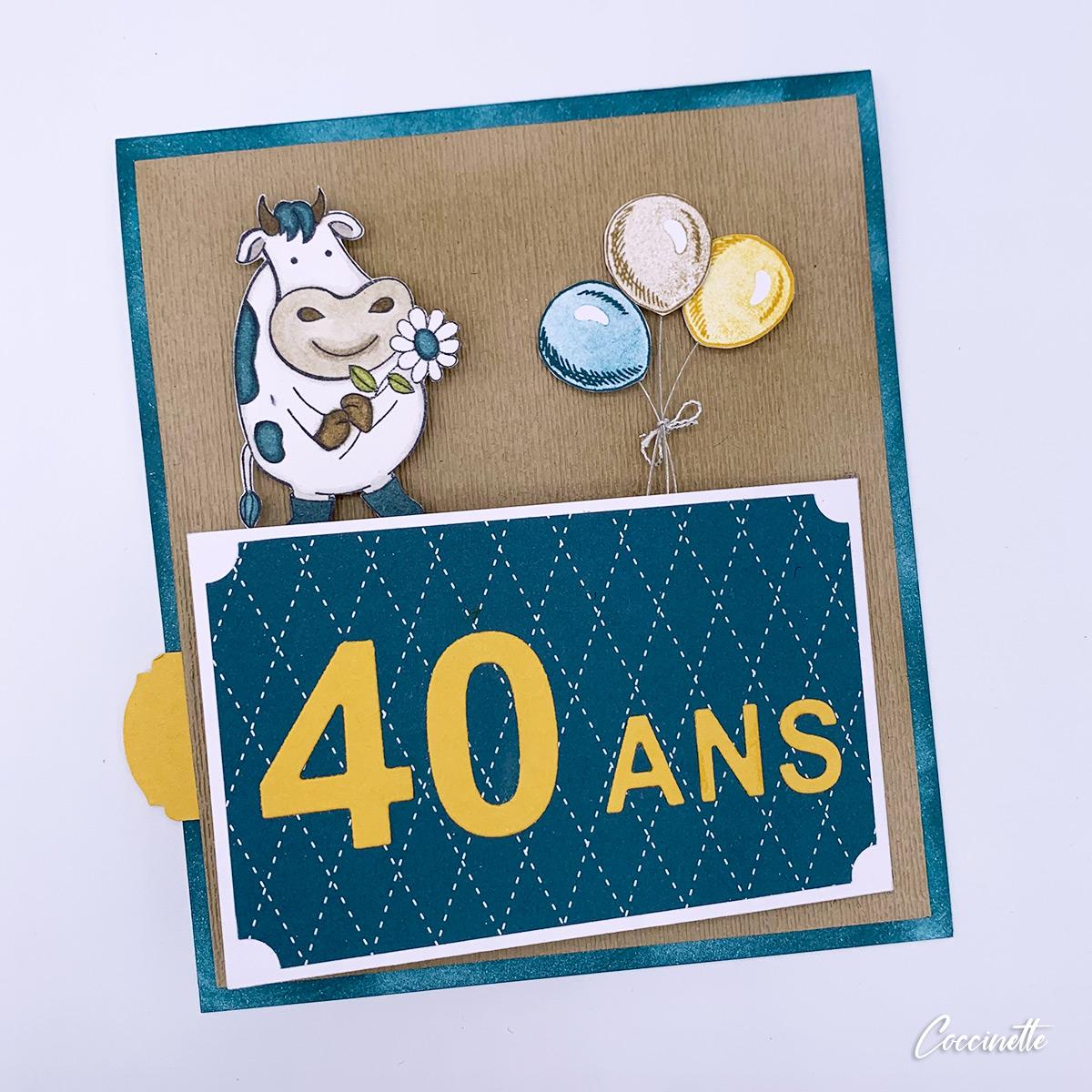 Carte 40 ans d'un agriculteur