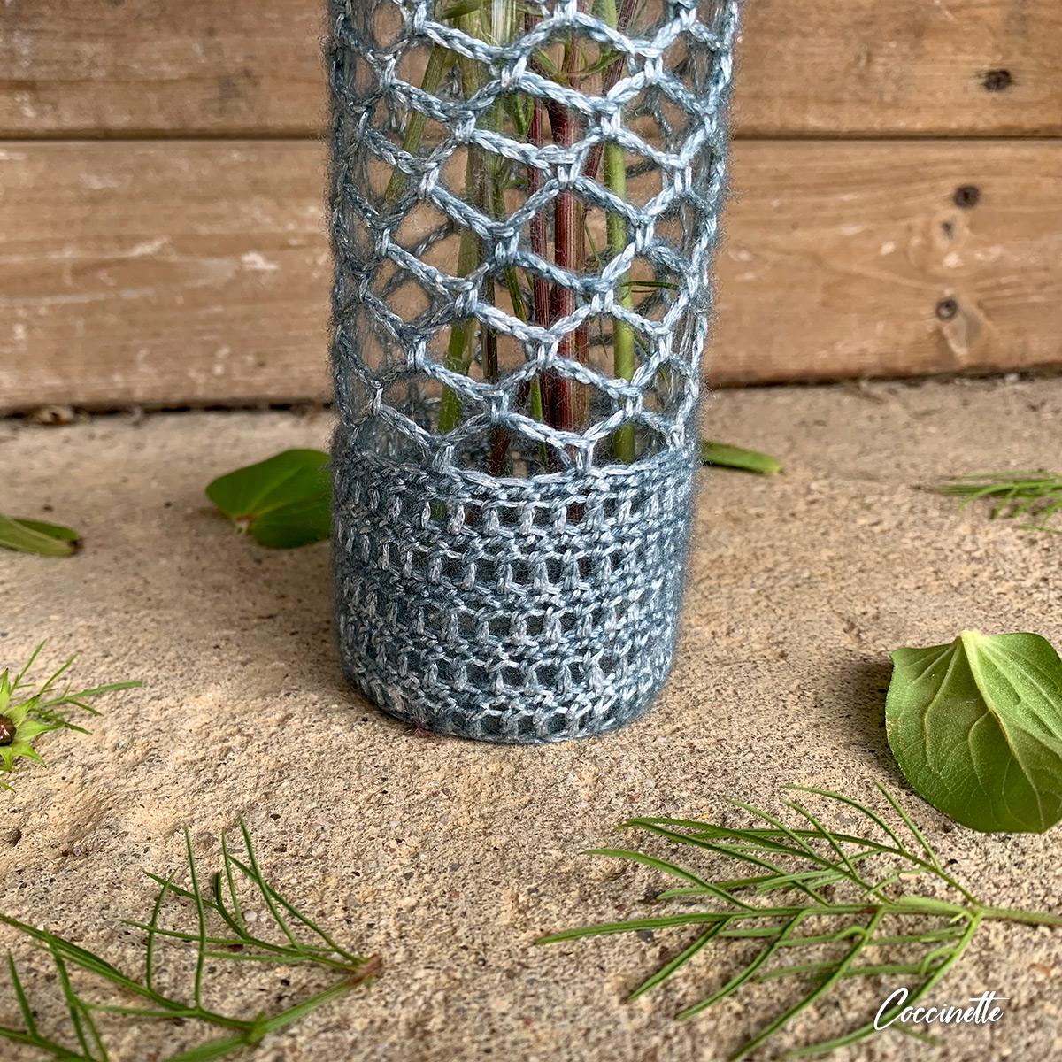 Base du vase en crochet